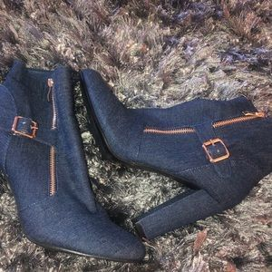Woman's denim booties
